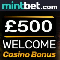Mintbet Casino 100% bonus up to £/€500   free spins   free bets