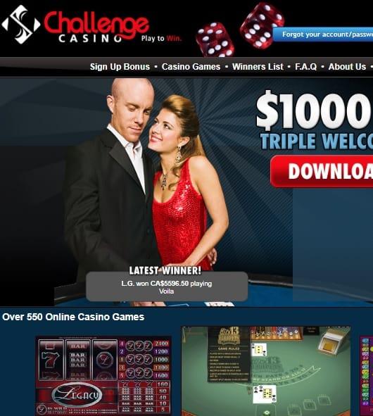Challenge Casino free spins bonus