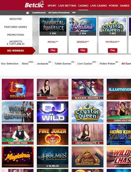 BetClic Casino free bonus