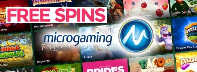 MICROGAMING CASINO free bonus spins