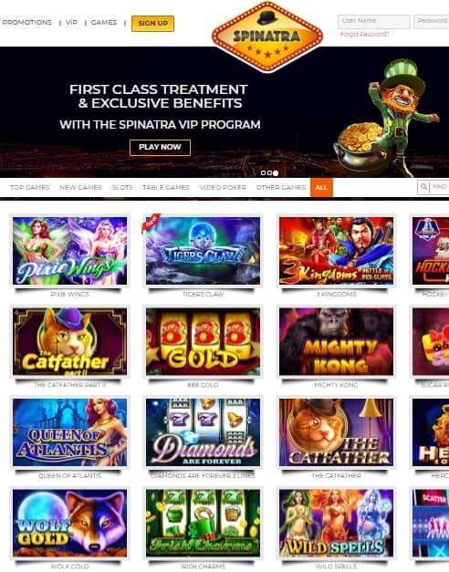 Spinatra Casino Online & Mobile