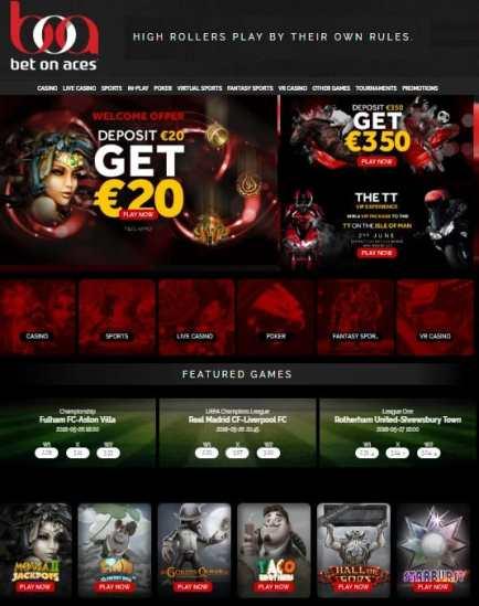 Bet On Aces free bonus