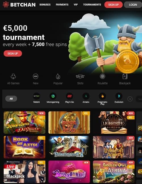 Betchan Casino Free Spins Bonus