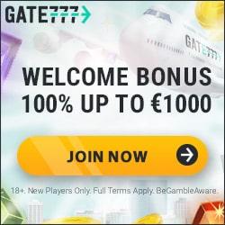 Gate 777 Casino [register & login] €1000 free bonus + 100 free spins