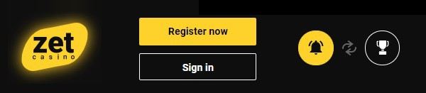 Zet Casino sign up and log in