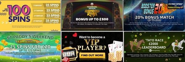 Bonzo Spins Casino 100 free spins no wager bonus