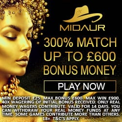 Midaur.com Casino Review: 300% bonus and free spins