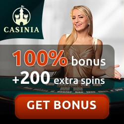 Casinia Casino 200 free spins and 100% up to €500 bonus