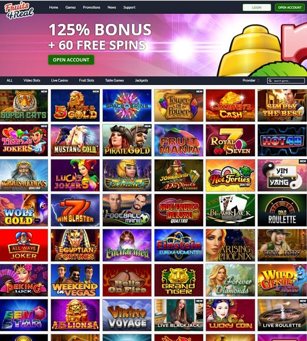 Fruits 4 Real Casino Review
