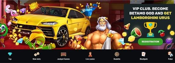 VIP & Loyalty Bonuses at Betamo Casino