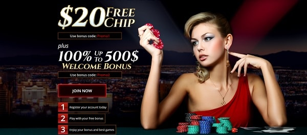 $20 free chip bonus on Realtime Games