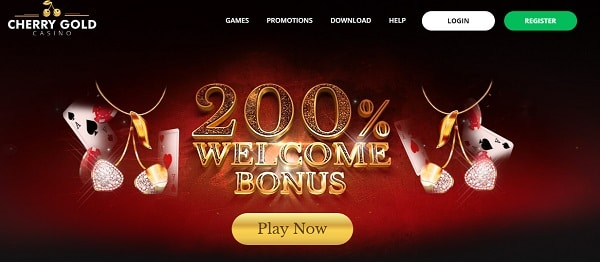 200% welcome bonus code: CHERRYGOLD