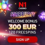 How to get 120 free spins and €300 bonus money to N1 Casino?