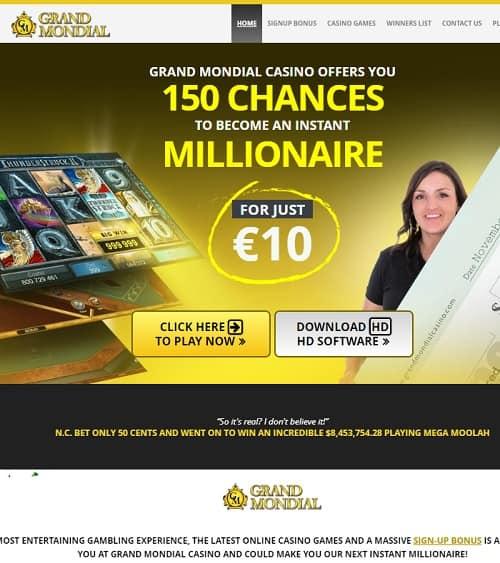 Grand Mondial Casino Review: free spins bonus