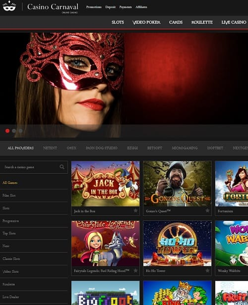 Casino Carnaval Review: 225% up to $600 free bonus + 100 free spins