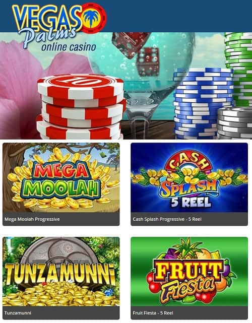 Vegas Palms Casino Review: 100 free spins plus 200% welcome bonus