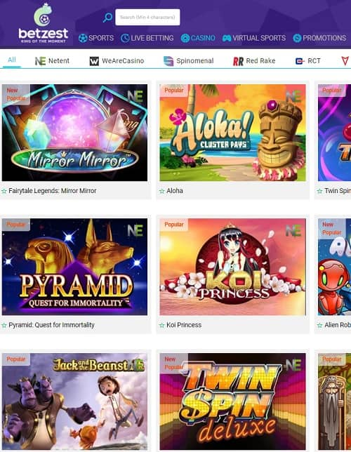 Betzest Casino Review: $/€5 no deposit bonus + extra free spins