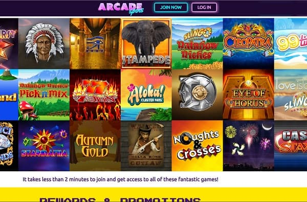 Arcade Spins Casino Review: deposit £10 and get 25 free spins bonus