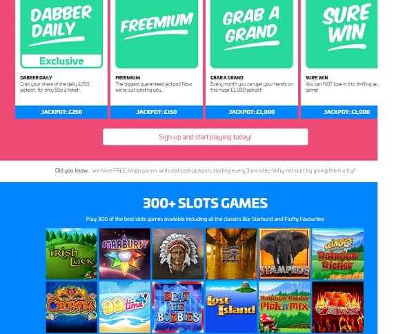 Dabber Bingo Casino Review: 10 free spins and £70 bonus no wagering