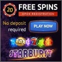 Wildblaster Casino 20 free spins NDB and 100% bonus + 100 gratis spins