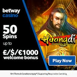 Betway Casino £1000 free play bonus and 50 free spins on sign up