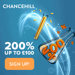 Chance Hill Casino 275% bonus   £300 free money   200 free spins
