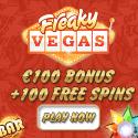 Freaky Vegas Casino | 100 free spins & €200 free bonus | review