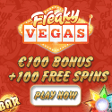 Freaky Vegas Casino | 100 free spins & €200 free bonus | review