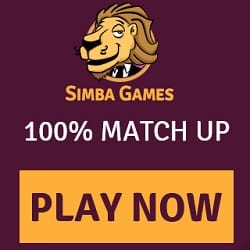 Simba Games Casino - 75 free spins and €50 sign-up bonus