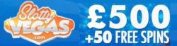 Slotty Vegas Casino 75 free spins and €500 welcome bonus