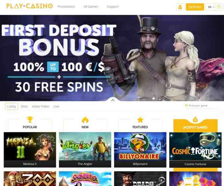Play.Casino - play and win bitcoins!