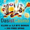 Das Ist Casino $3500 (or 3.5 BTC) bonus and 250 free spins