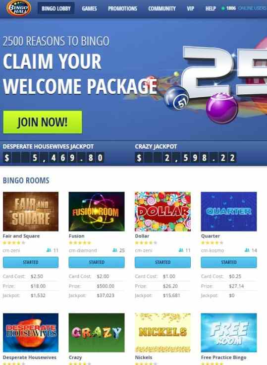 Bingo Hall Casino Review - free spins, free bets, free bonus, free chips