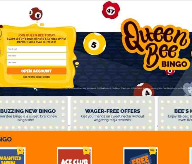 Queen Bingo Bee Casino Review