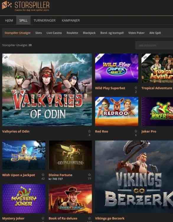 StorSpiller Casino Review