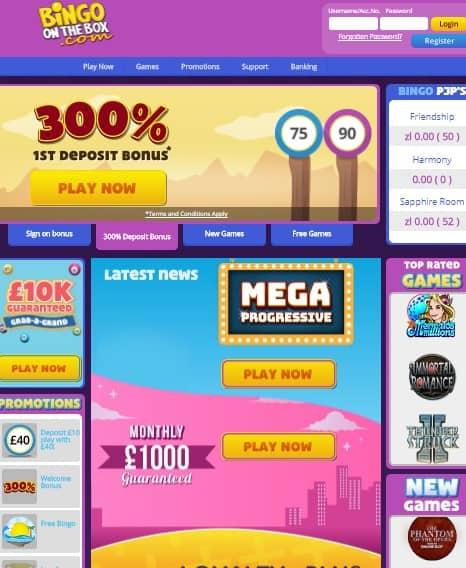 Bingo On The Box Casino Review