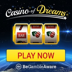 Casino of Dreams (Live Casino Dealer): £1000 welcome free bonus