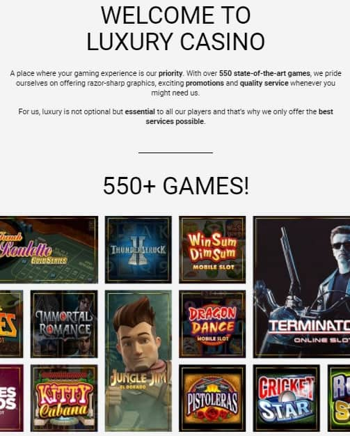 Luxury casino 10 free spins