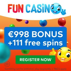 FUN Casino | 111 free spins and €998 free bonus for new players