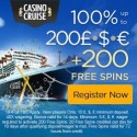 Cruise Casino 200 free spins and 1000 EUR welcome bonus