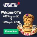 Luck8 Casino 400% bonus and 100 free spins