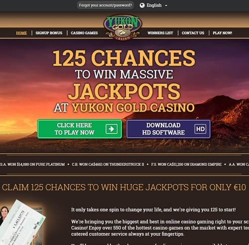 Yukon Gold Casino Free Play Bonus