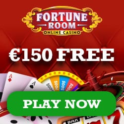 Fortune Room Casino 100% up to €150 bonus and 100 free spins