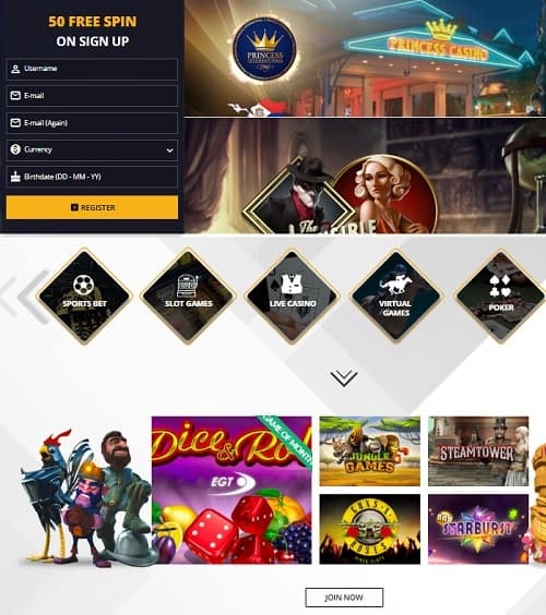 Princess Bet Casino Online Review