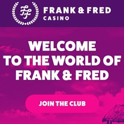 Frank Fred Casino 300 free spins + 250% up to €300 free bonus