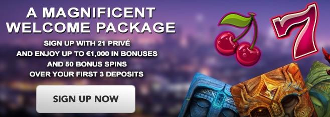 21Prive.com Casino Free Spins