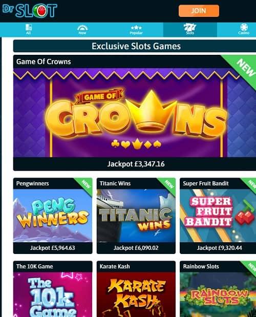 Dr Slot Casino Review