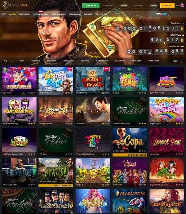 FortuneJack Casino review