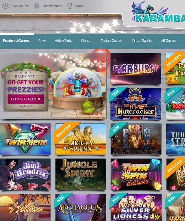Karamba Casino Xmas Bonus Calendar