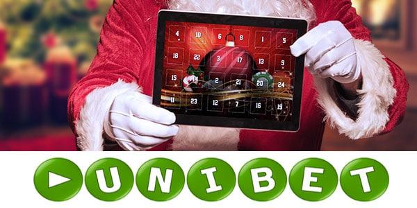 Unibet Christmas Calendar - free money, bonus games, free spins